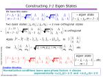 constructing j 1 eigen states