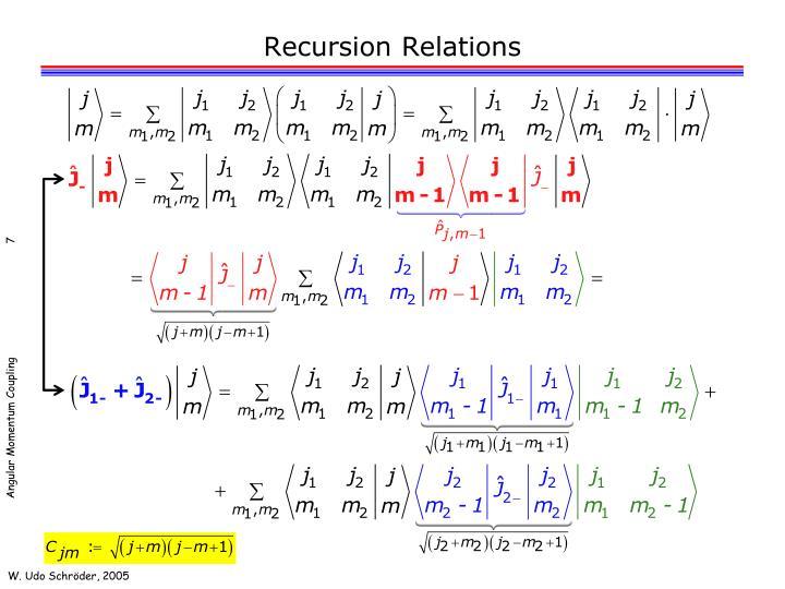 Recursion Relations
