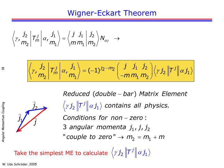 Wigner-Eckart Theorem