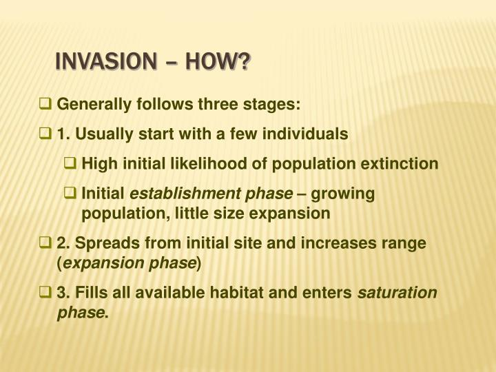 Invasion – how?
