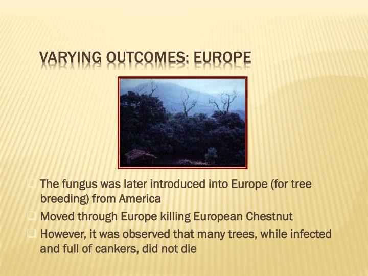 Varying Outcomes: Europe