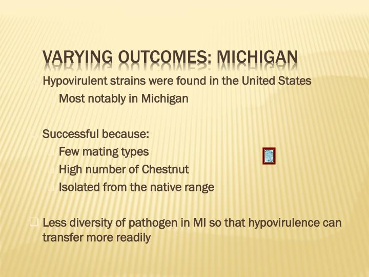 Varying Outcomes: Michigan