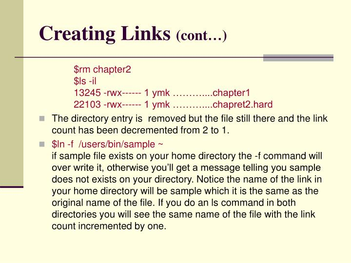 Creating Links