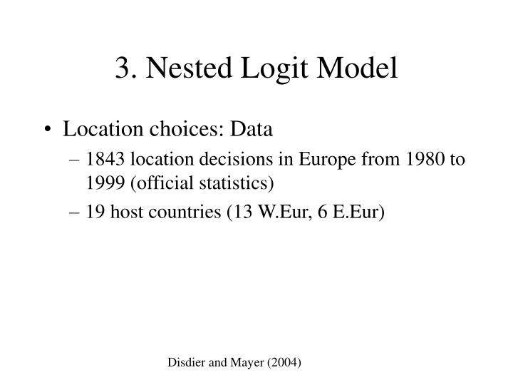 3. Nested Logit Model