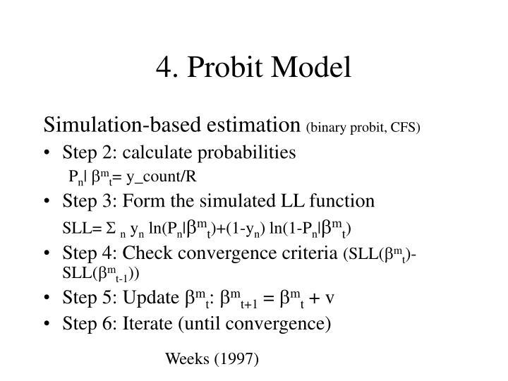 4. Probit Model