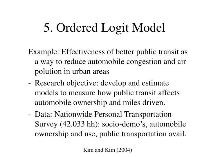 5. Ordered Logit Model