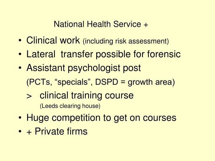 National Health Service +