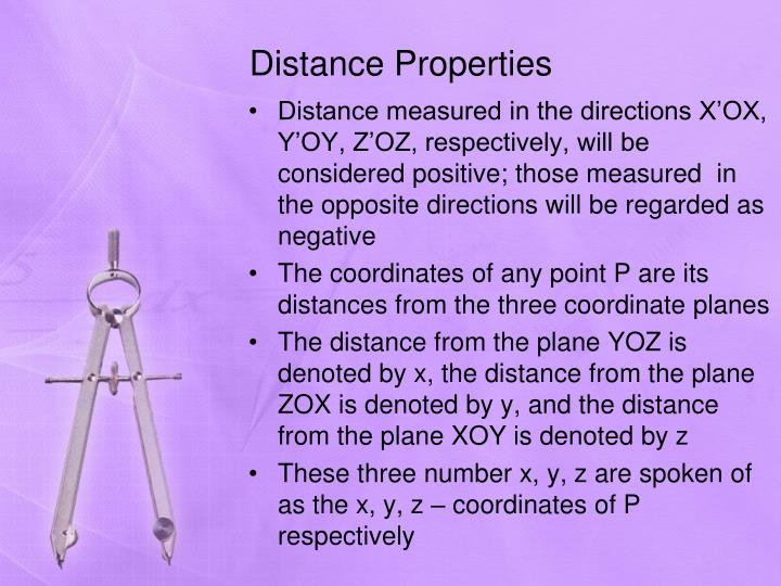 Distance Properties
