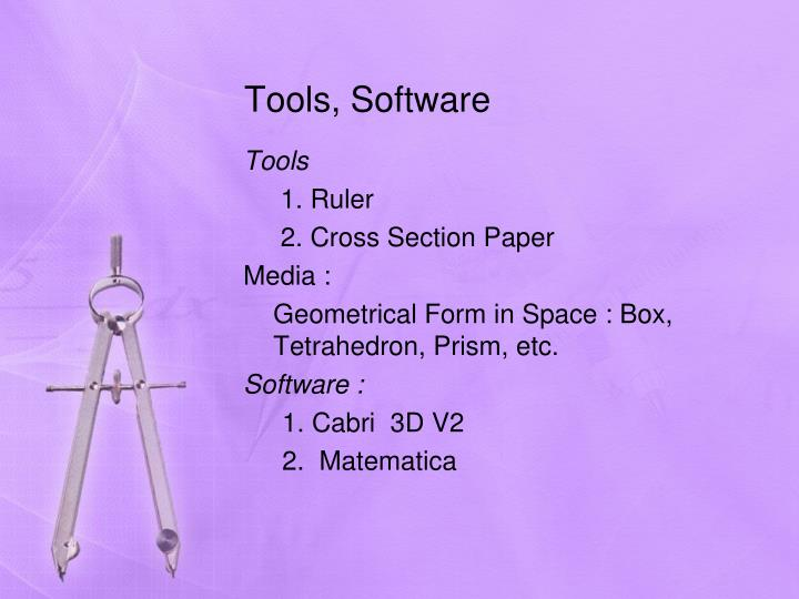 Tools, Software