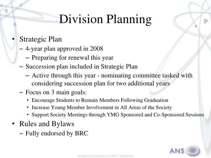 Division Planning