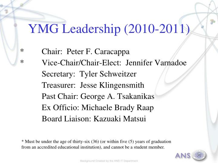 YMG Leadership (2010-2011)