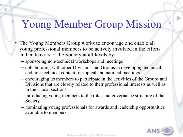 Young member group mission