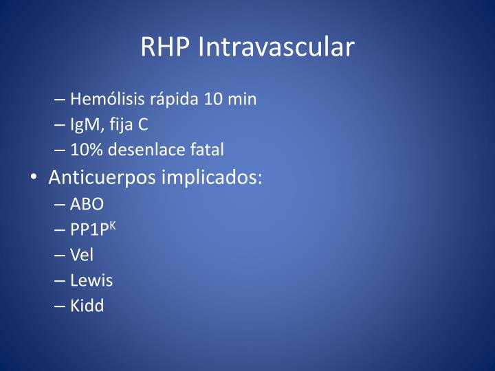 RHP Intravascular