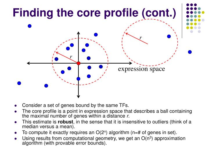 Finding the core profile (cont.)