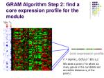 gram algorithm step 2 find a core expression profile for the module