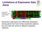 limitations of expression data alone