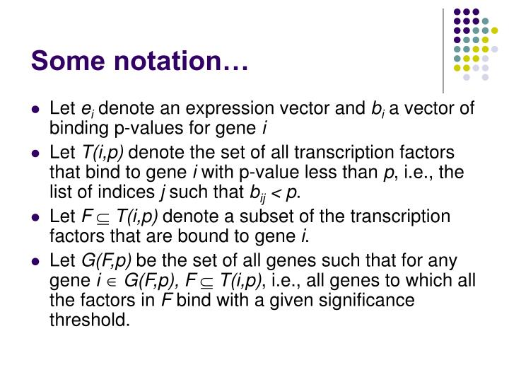 Some notation…