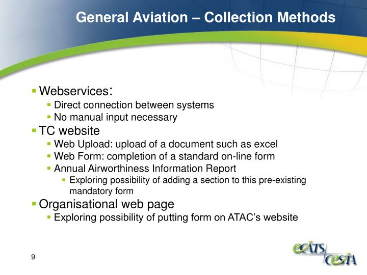 General Aviation – Collection Methods