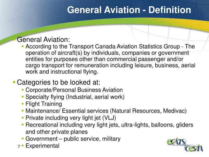 General Aviation - Definition
