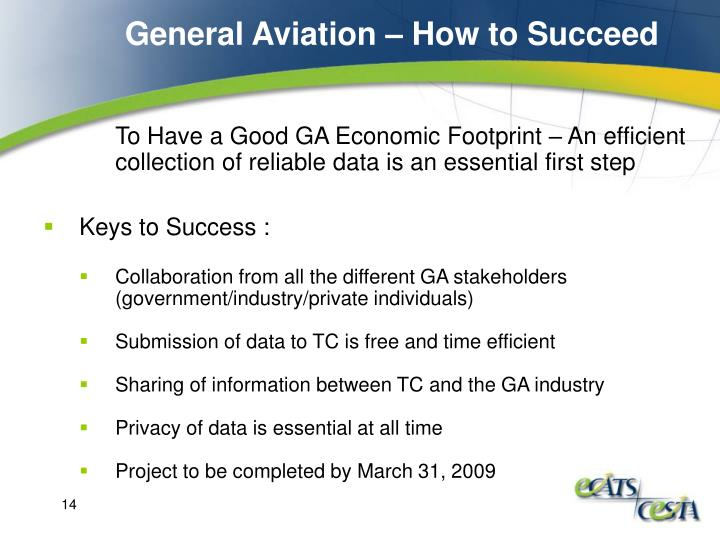 General Aviation – How to Succeed