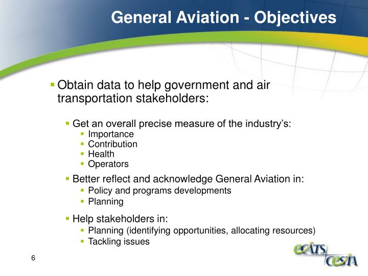 General Aviation - Objectives