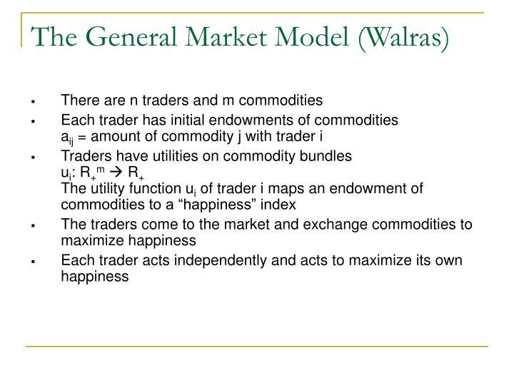 The General Market Model (Walras)