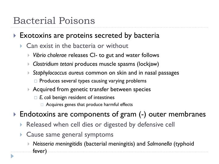 Bacterial Poisons