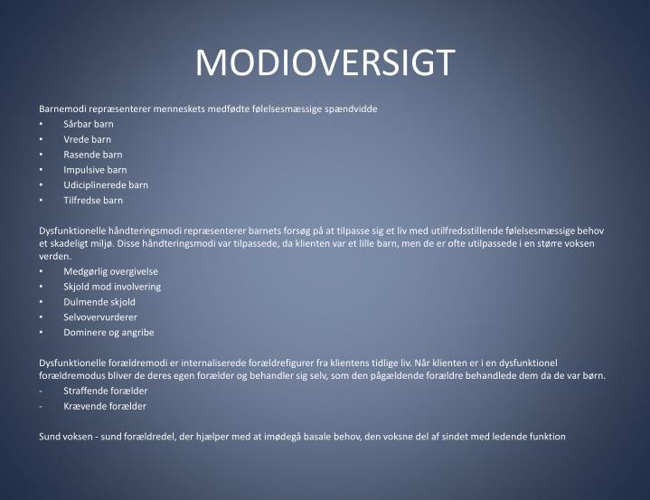 MODIOVERSIGT