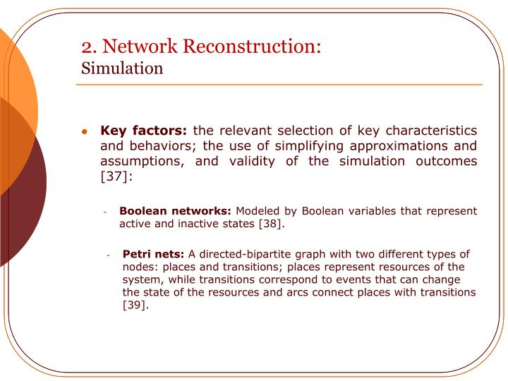 2. Network Reconstruction: