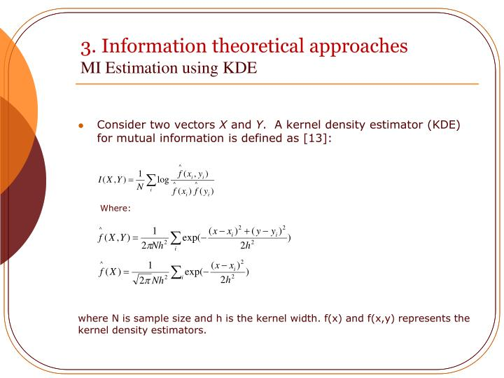 3. Information theoretical approaches