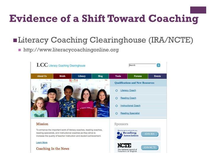 Evidence of a Shift Toward Coaching