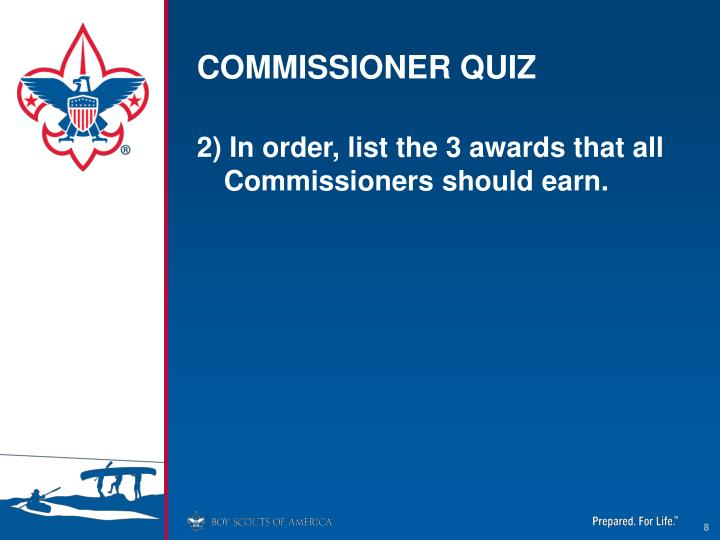 COMMISSIONER QUIZ