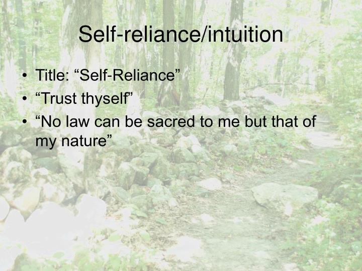 essay self-reliance
