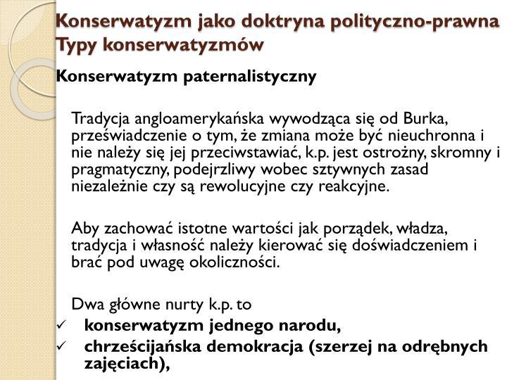 Konserwatyzm jako doktryna polityczno-prawna