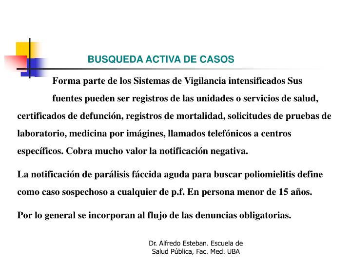 BUSQUEDA ACTIVA DE CASOS