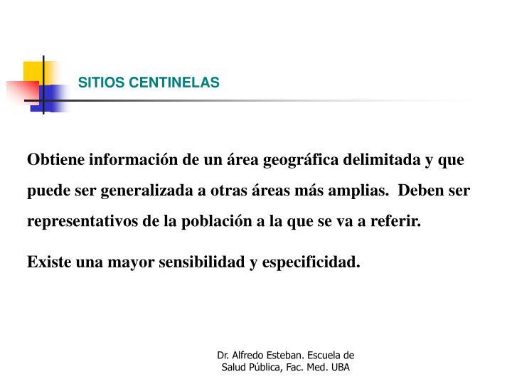 SITIOS CENTINELAS