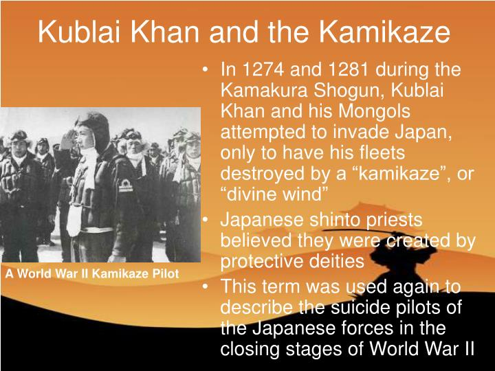 Kublai Khan and the Kamikaze