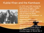 kublai khan and the kamikaze