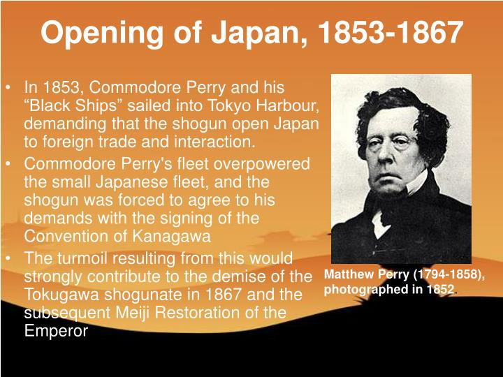 Opening of Japan, 1853-1867