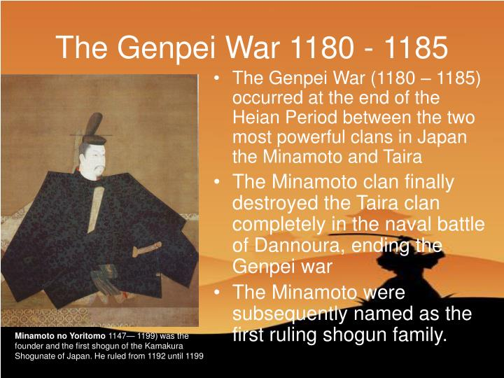 The Genpei War 1180 - 1185