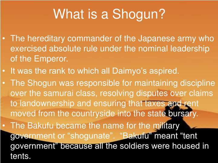 What is a Shogun?