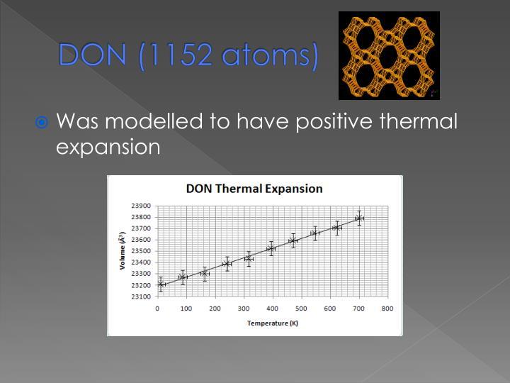 DON (1152 atoms)