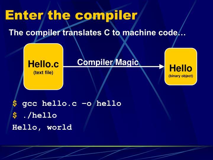 Enter the compiler