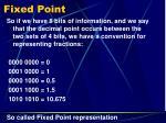 fixed point