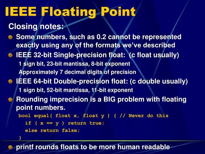 IEEE Floating Point