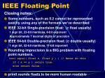 ieee floating point8