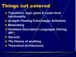 things not covered