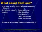 what about fractions