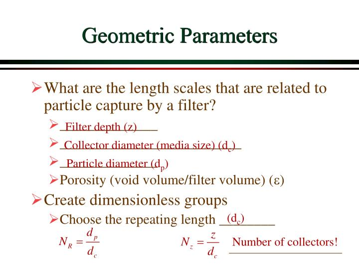 Geometric Parameters