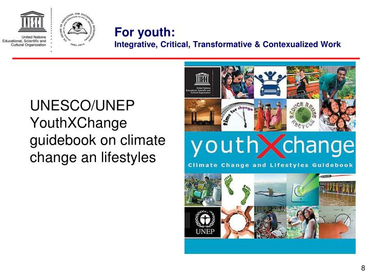 UNESCO/UNEP YouthXChange guidebook on climate change an lifestyles